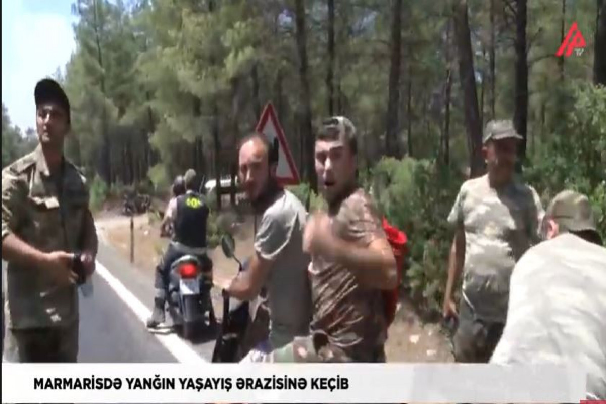 """Fire flames spread to residential area in Marmaris, Turkey - <span class=""""red_color"""">APA TV reports from the scene"""