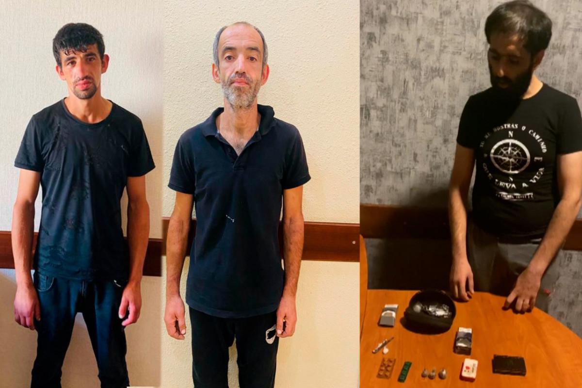Nərimanov rayonunda narkotik satışı ilə məşğul olan 3 nəfər saxlanılıb