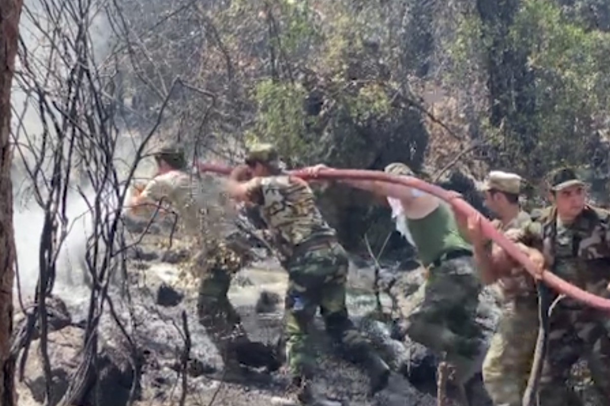 """Azerbaijani firefighters continue their activity in Turkey-<span class=""""red_color"""">PHOTO-<span class=""""red_color"""">VIDEO"""