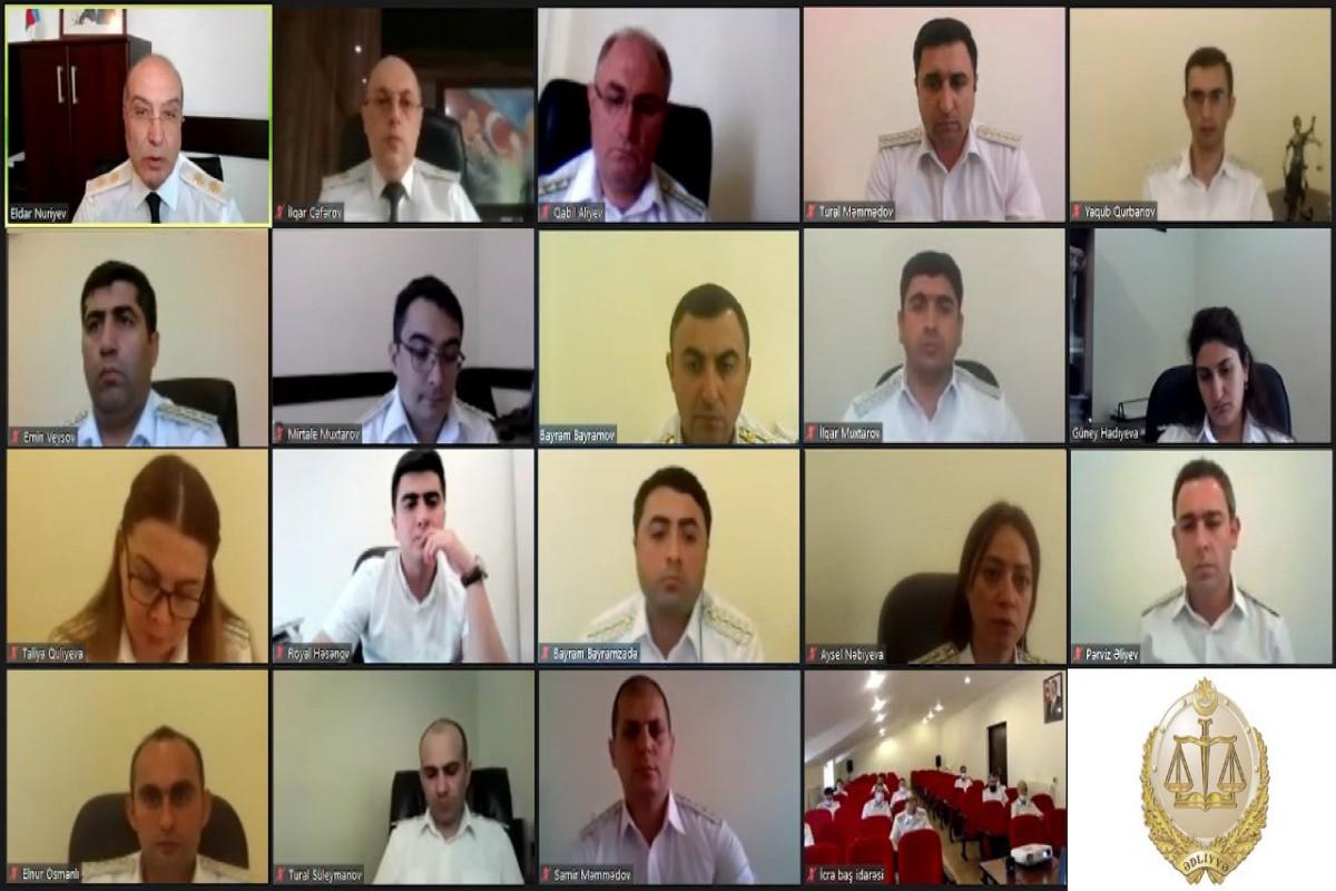Ədliyyə Nazirliyində icra fəaliyyətinə həsr edilən videokonfrans formatında müşavirə keçirilib