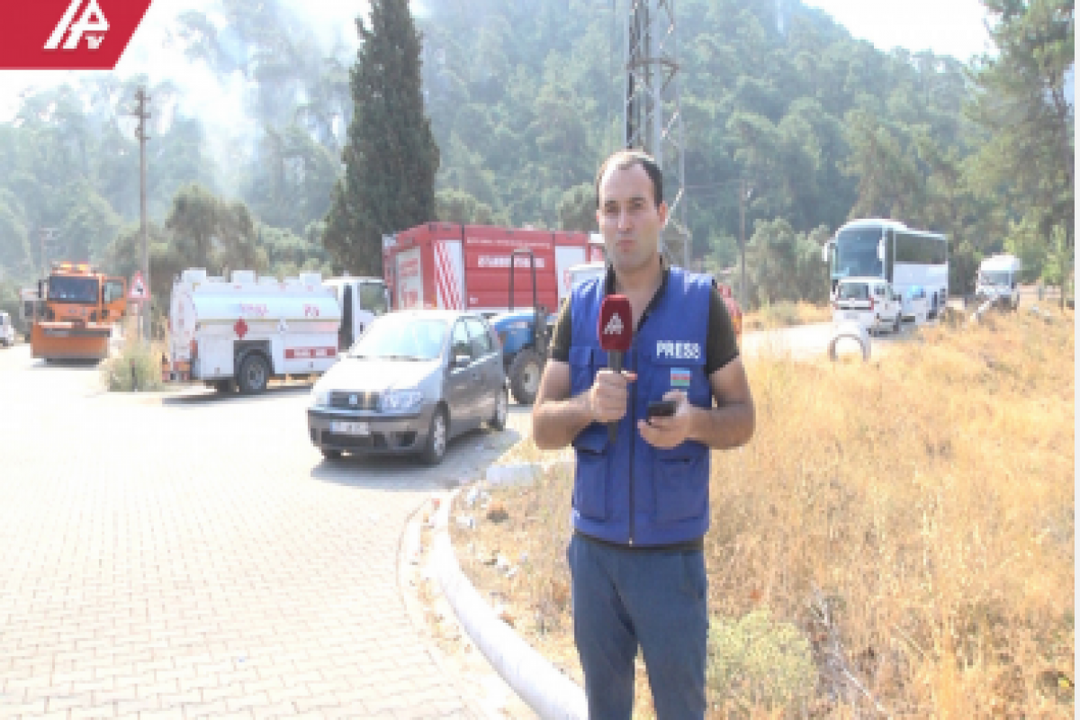 """Terrible fire on Marmaris-Mugla road - <span class=""""red_color"""">APA TV AT THE SCENE"""