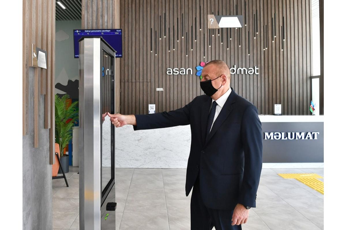 "President Ilham Aliyev attends the opening of Baku ""ASAN xidmət"" center No 6"