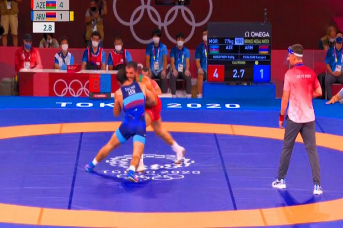 "<span class=""red_color"">Tokyo-2020 Azerbaijani wrestler defeating Armenian won medal"