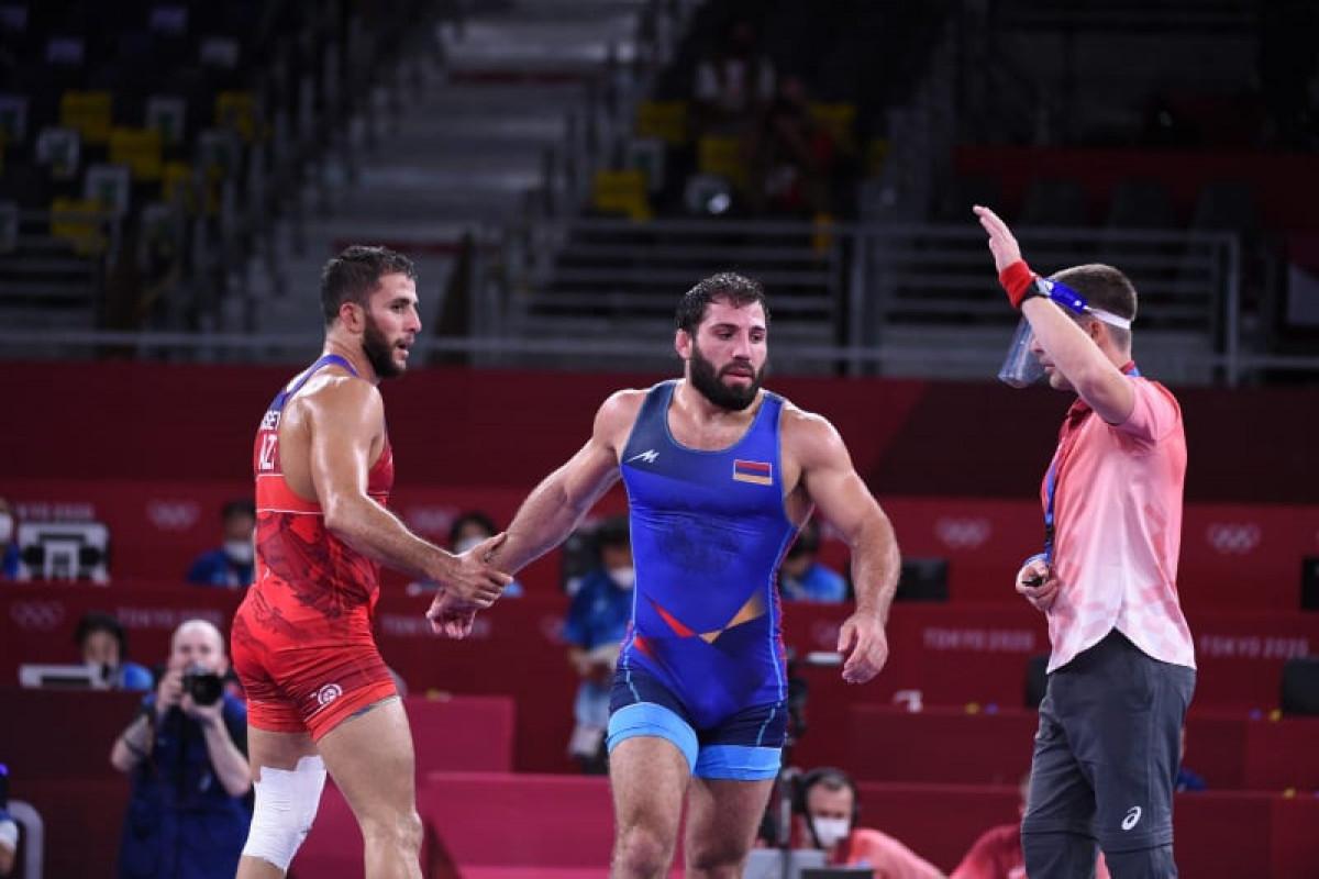 Токио-2020: Азербайджанский борец, победив армянина, завоевал медаль