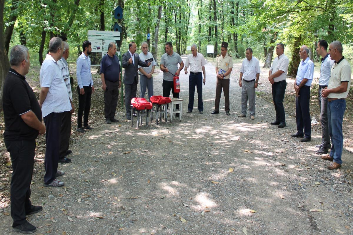 МЧС провело в Гирканском национальном парке просветительское мероприятие по пожарной безопасности