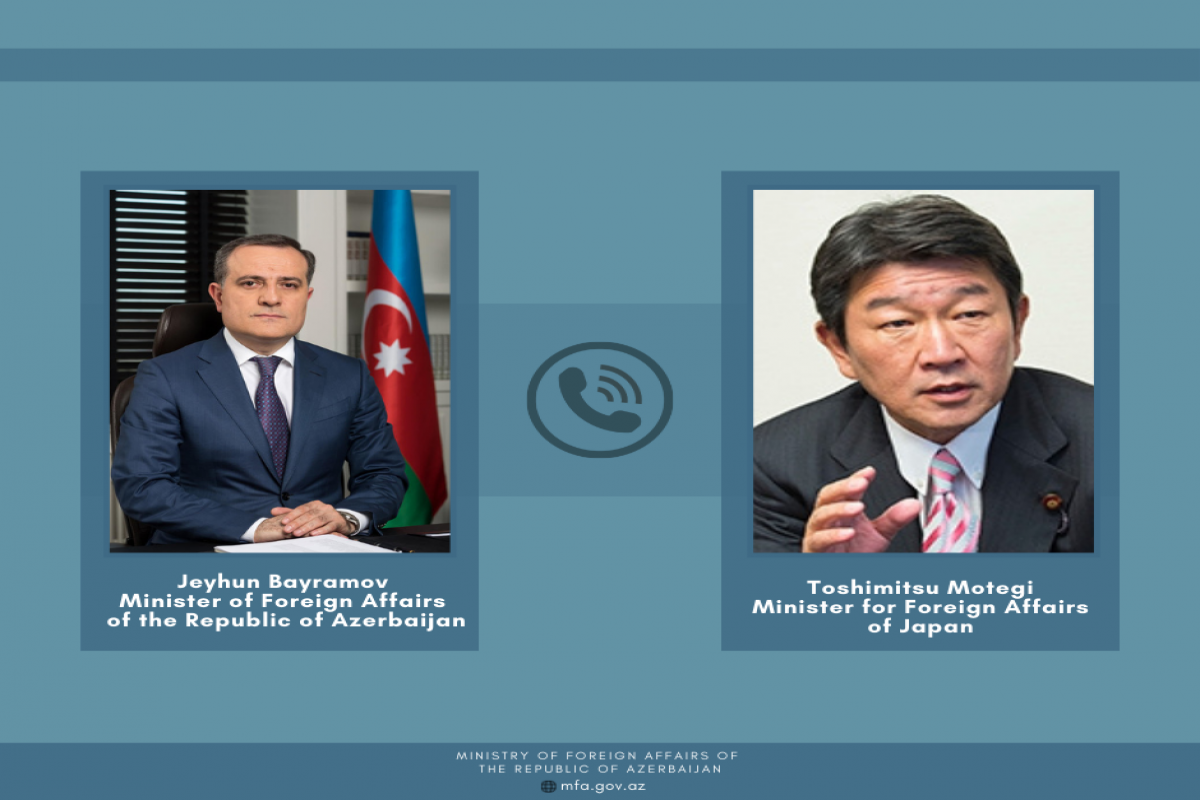 Azerbaijani FM and Japanese counterpart hold phone conversation
