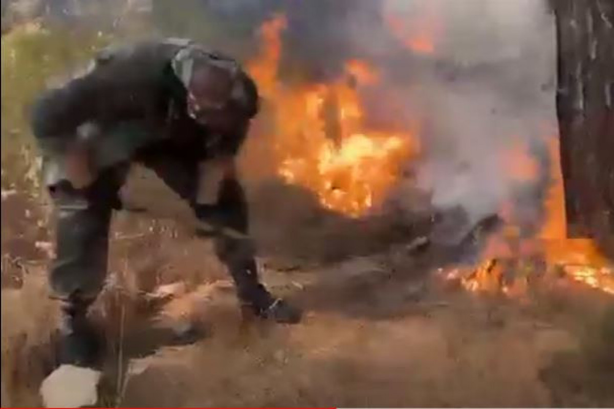 """Азербайджанские пожарные продолжают меры по тушению пожаров в Турции-<span class=""""red_color"""">ВИДЕО"""