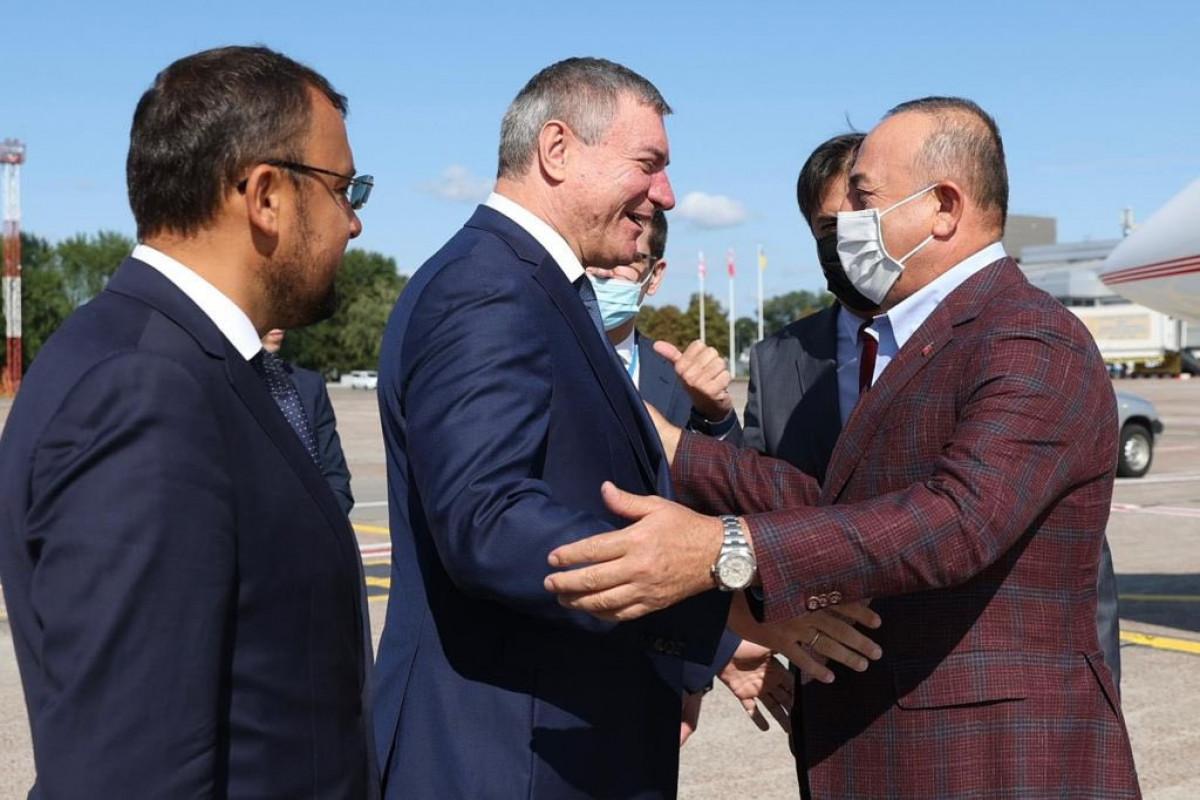 Mövlud Çavuşoğlu Ukraynada səfərdə
