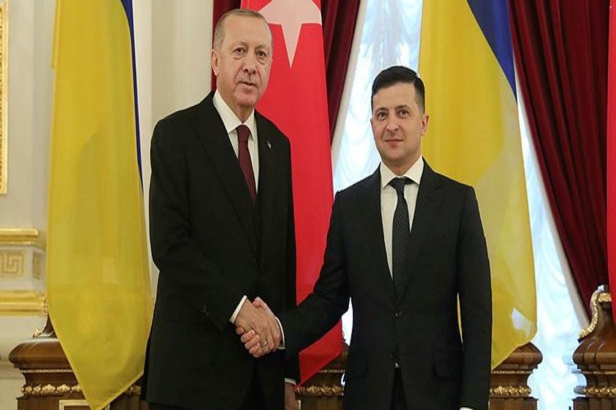 Türkiyə Prezidenti Rəcəb Tayyib Ərdoğan və Ukraynanın Prezidenti Vladimir Zelinski