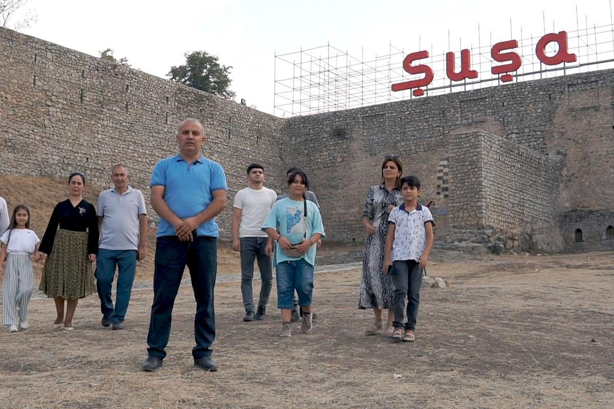 Впервые жители Шуши поздравили Первого вице-президента Азербайджана Мехрибан Алиеву с днем рождения из своего родного города - ВИДЕО