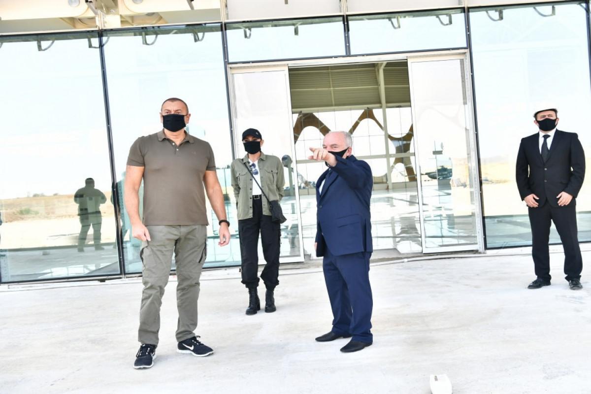 Президент Ильхам Алиев и первая леди Мехрибан Алиева ознакомились с работой, проделанной в Физулинском международном аэропорту  -ОБНОВЛЕНО -ФОТО -ВИДЕО