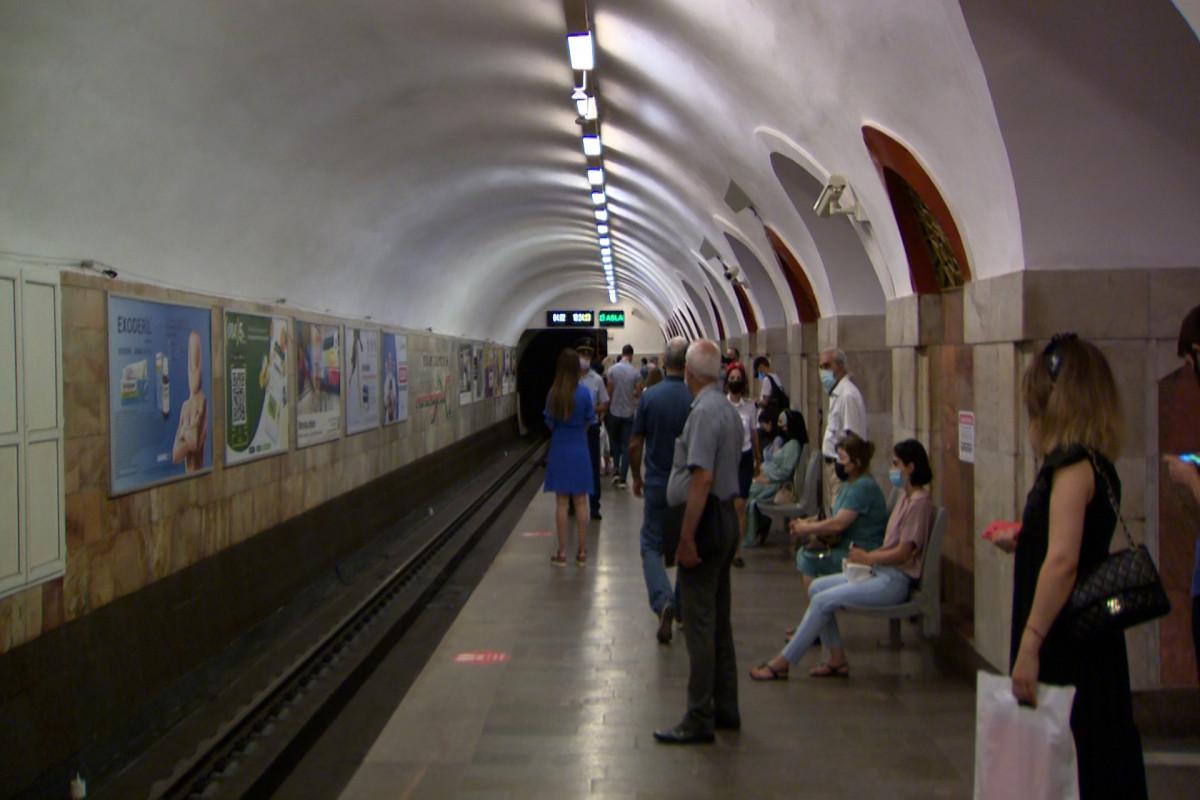 Metroda koronavirus yoxlaması