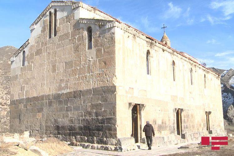 Representatives of Albanian-Udi Christian community of Azerbaijan visit Aghoghlan Monastery in Lachin  - VIDEO