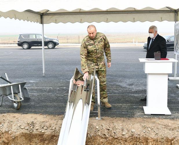 Azerbaijani President laid foundation of Horadiz-Agband railway
