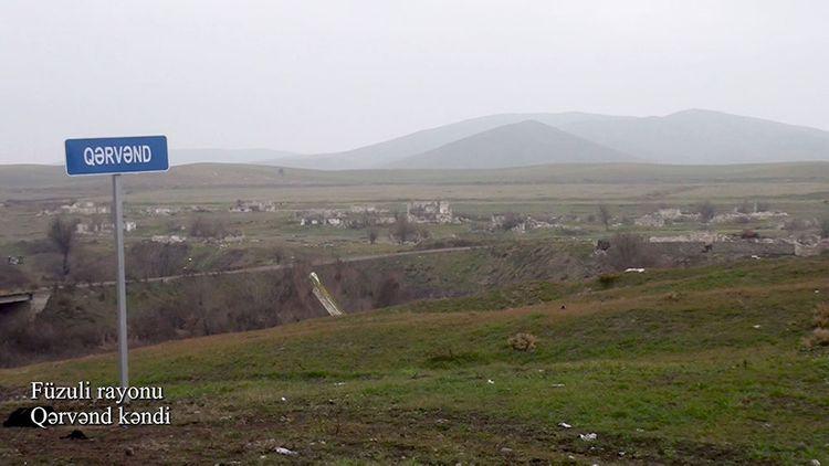 Füzuli rayonunun Qərvənd kəndindən görüntülər - VİDEO
