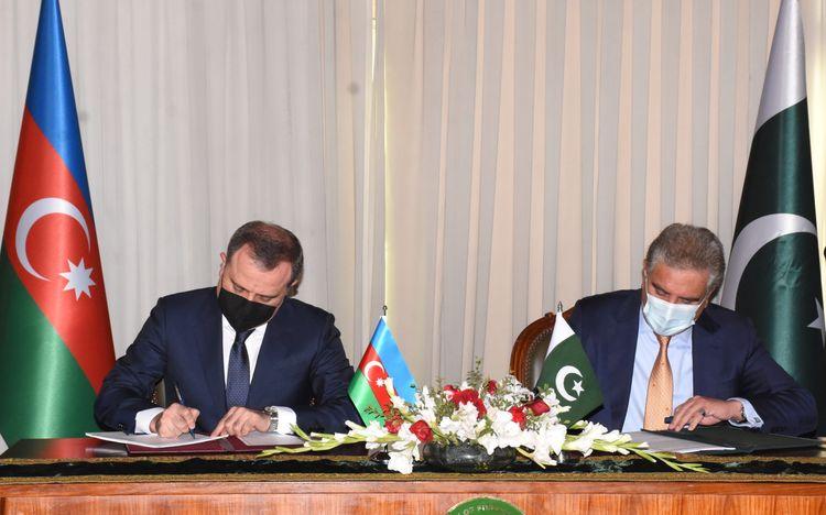 Azərbaycanla Pakistan arasında əməkdaşlıq haqda saziş imzalanıb