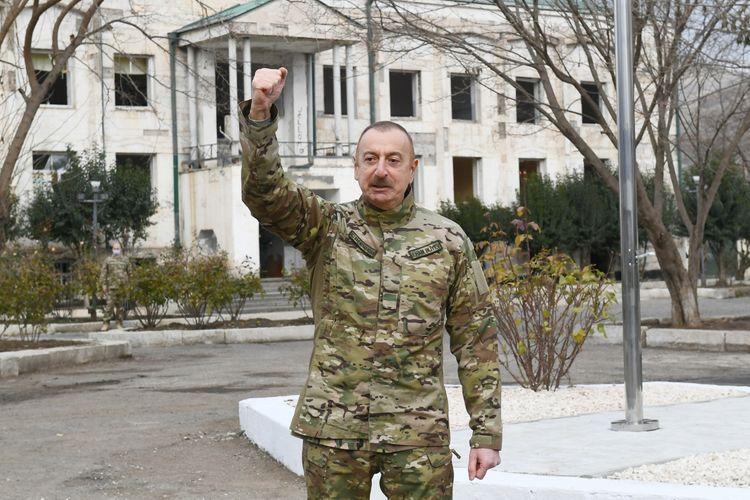 Prezident İlham Əliyev və Mehriban Əliyeva Şuşa şəhərinə səfər ediblər -  VİDEO