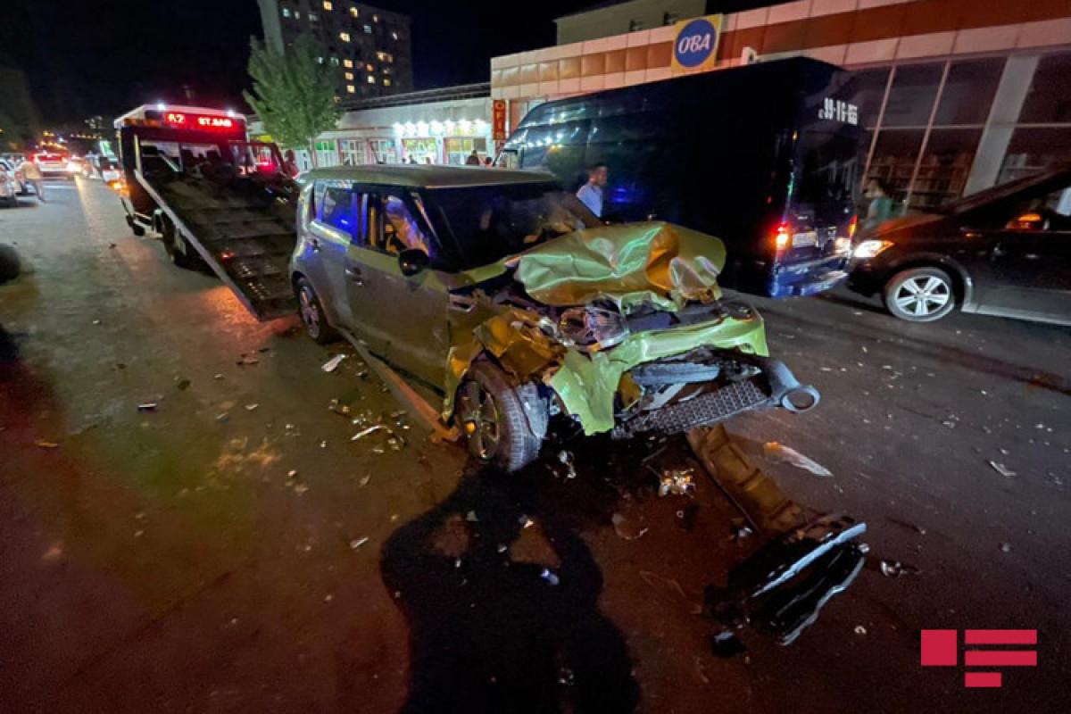 В Баку столкнулись семь автомобилей, есть раненые-ФОТО -ВИДЕО