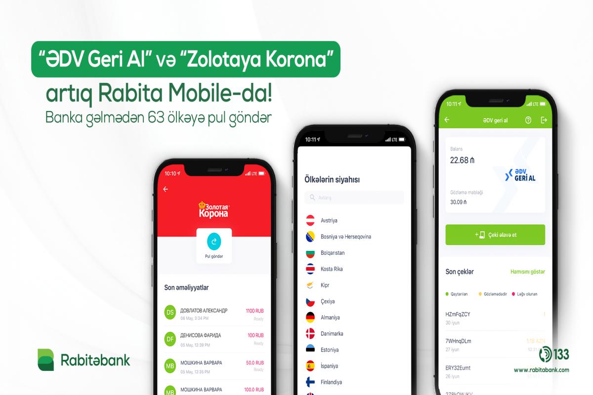 """""""Rabita Mobile"""" tətbiqinə yeni xidmətlər əlavə olunub"""
