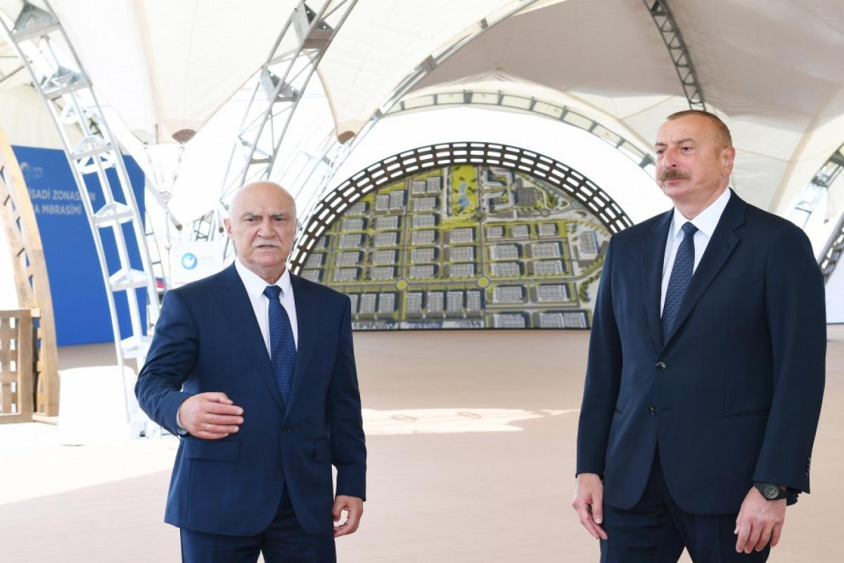 President Ilham Aliyev laid foundation of Alat Free Economic Zone