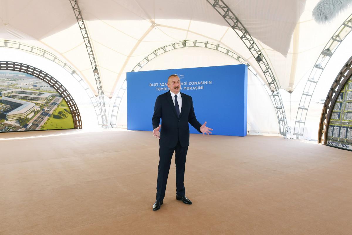 Azərbaycan Prezidenti Azad İqtisadi Zonanın niyə Ələtdə yaradılmasına aydınlıq gətirib
