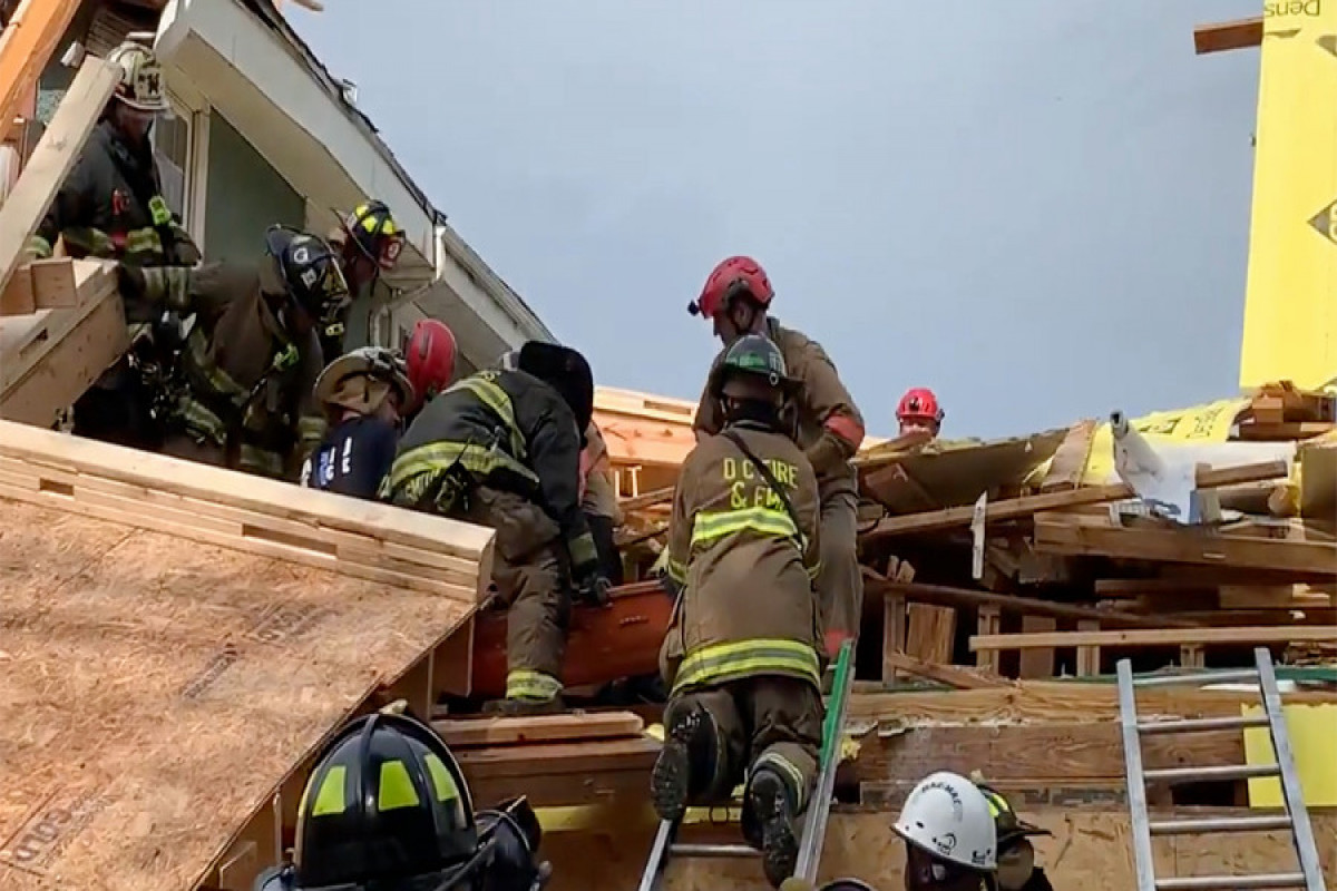 Five injured after building under construction collapses in D.C.