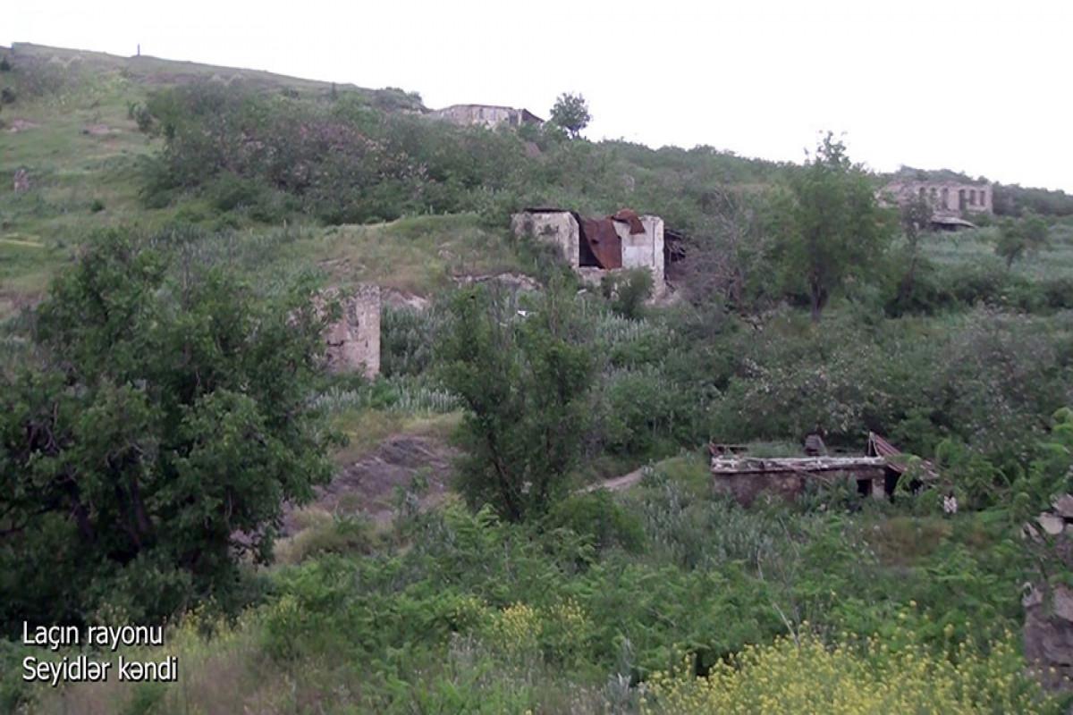 Azerbaijani MoD releases video footage of the Seyidlar village of the Lachin region