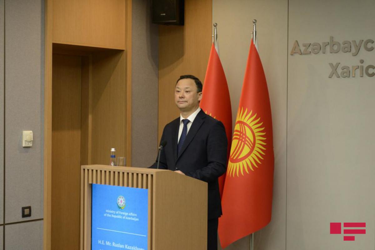 "Kyrgyz Minister: ""Resolution of Karabakh problem will stimulate development of South Caucasus"""