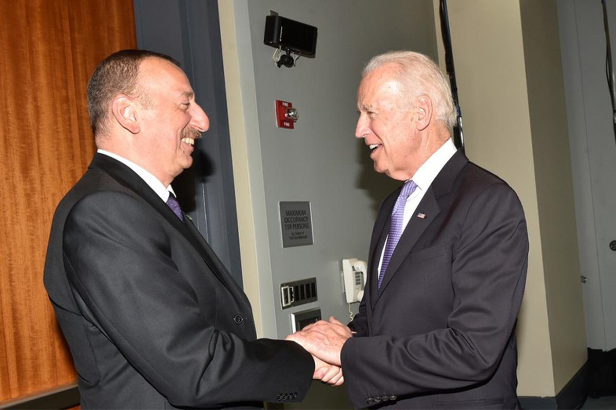 Президент Ильхам Алиев направил Байдену поздравительное послание