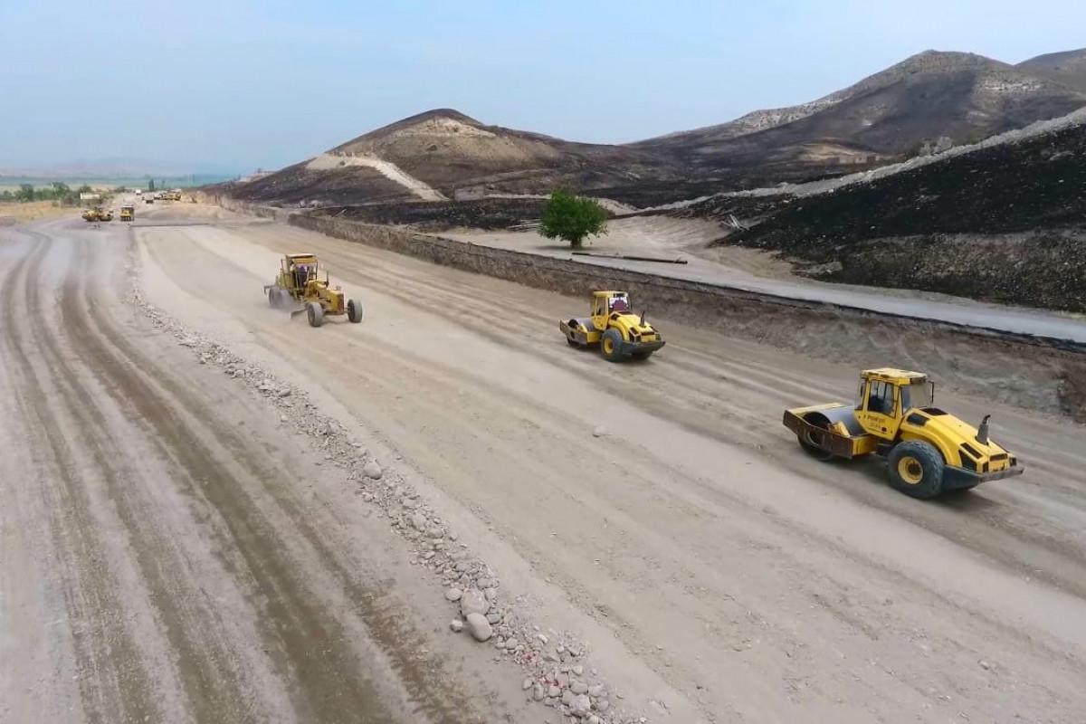 Xudafərin-Qubadlı-Laçın və Xanlıq-Qubadlı avtomobil yolları inşa edilir - VİDEO