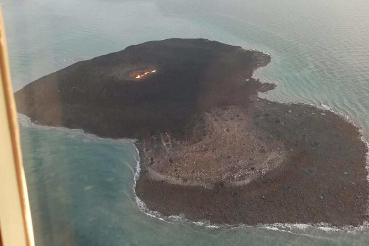Geologiya və Geofizika İnstitutu: Xəzərdə vulkan püskürməsi zamanı alovun hündürlüyü 500 m-dən artıq olub