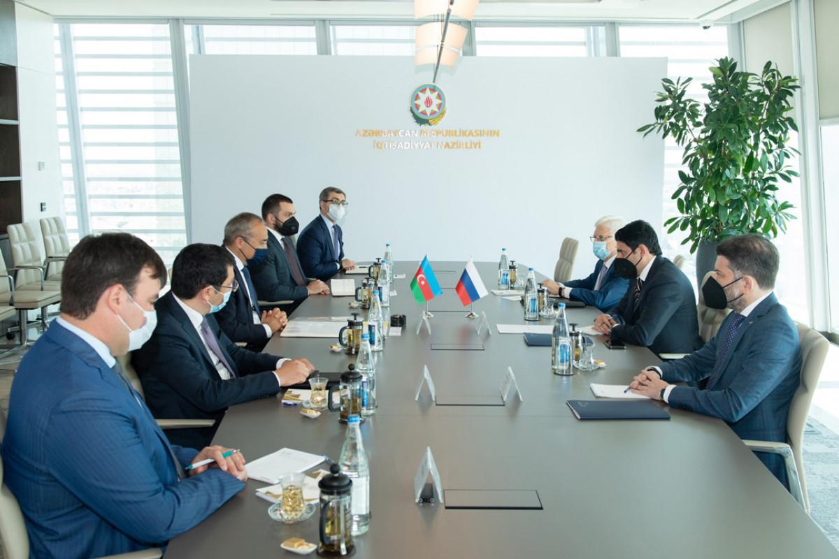 Azərbaycanla Rusiya arasında ticari-iqtisadi əməkdaşlığın genişləndirilməsi müzakirə edilib