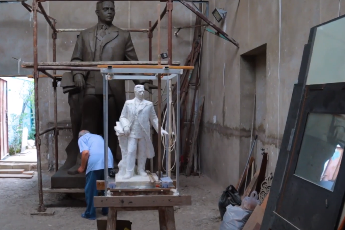 """Statue of Uzeyir Hajibeyli to be erected in Shusha-<span class=""""red_color"""">VIDEO"""