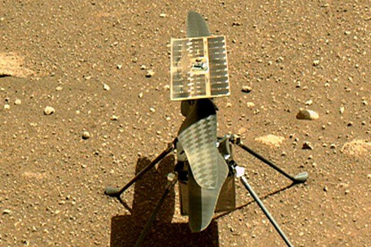 Вертолет Ingenuity завершил девятый полет на Марсе