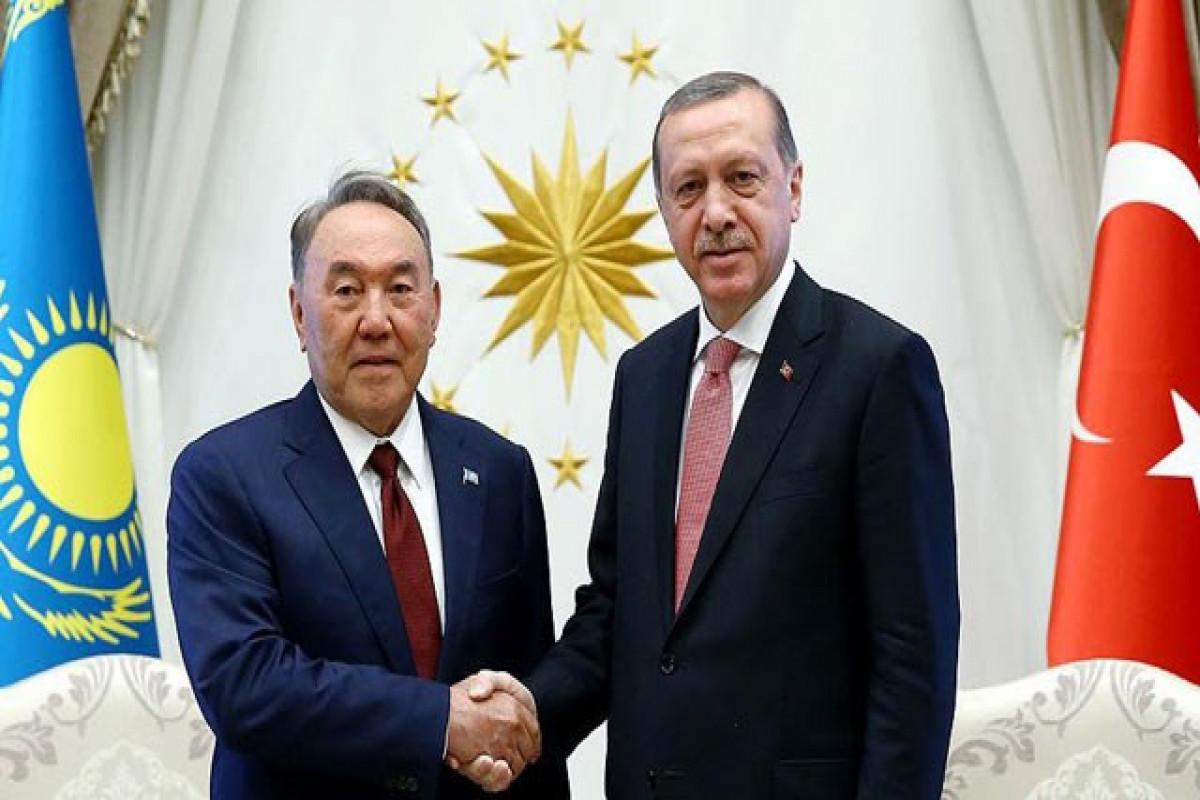 Ərdoğanla Nursultan Nazarbayev arasında telefon danışığı olub