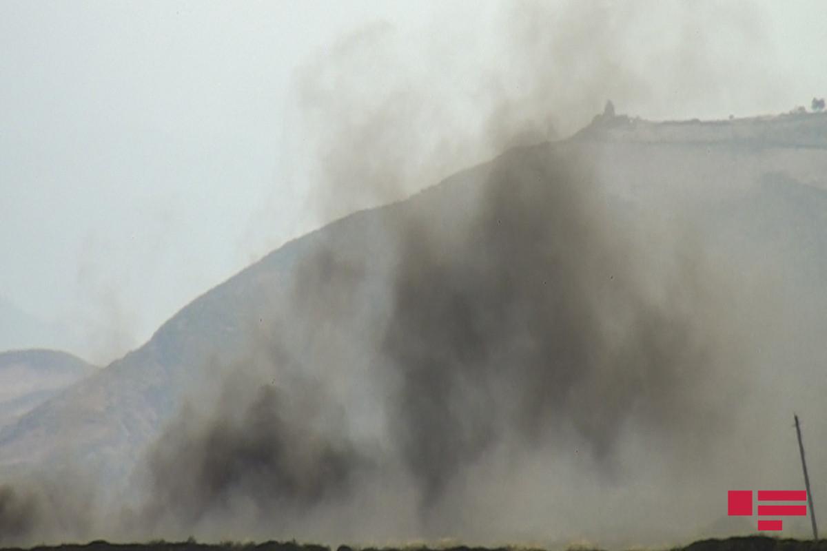 В Газахе сгорели сухая трава и кустарники на площади 5 гектаров