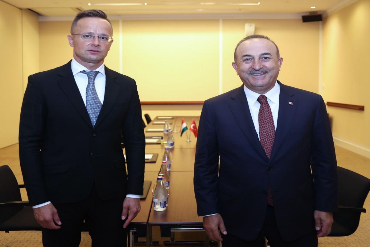 Türkiyə və Macarıstan XİN başçıları görüşüb