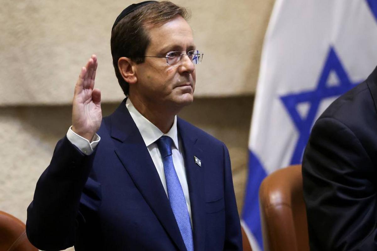 İsrailin yeni Prezidenti and içib