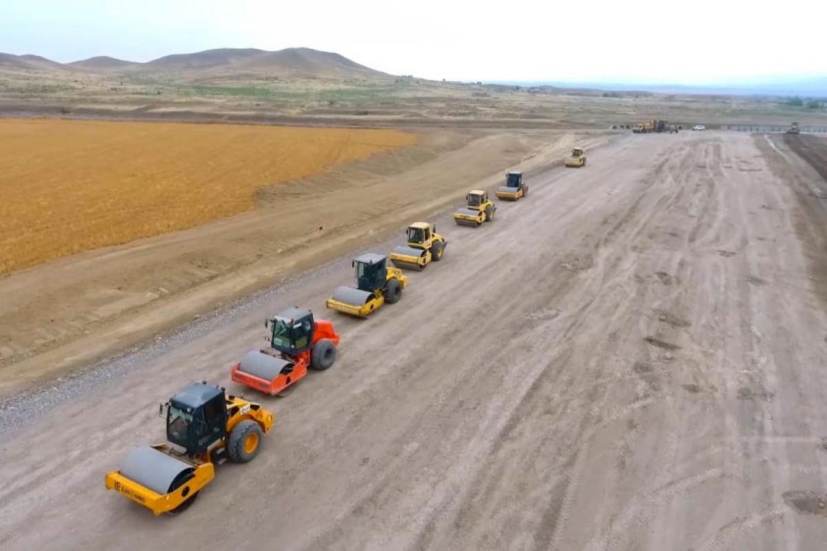 Construction of the Horadiz-Jabrayil-Zangilan-Agband highway continues