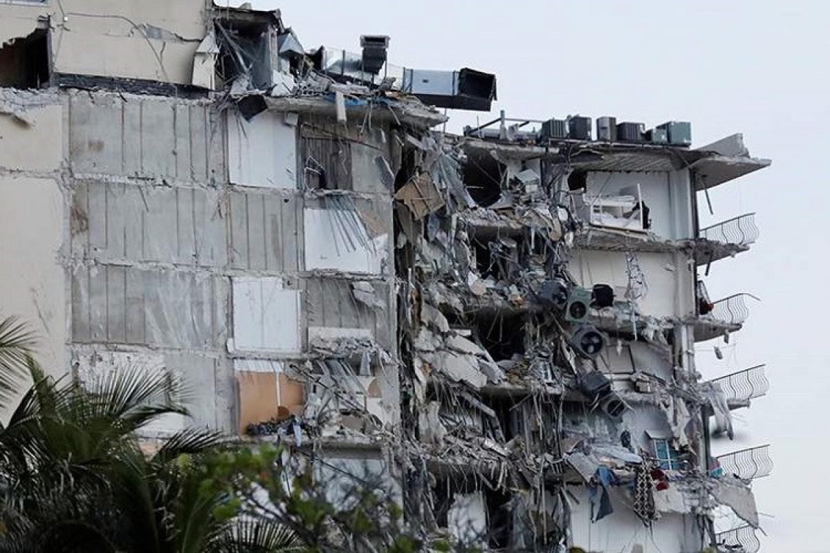 ABŞ-da çökmüş binanın dağıntıları altından 60 meyit çıxarılıb, 80 nəfərin aqibəti bəlli deyil