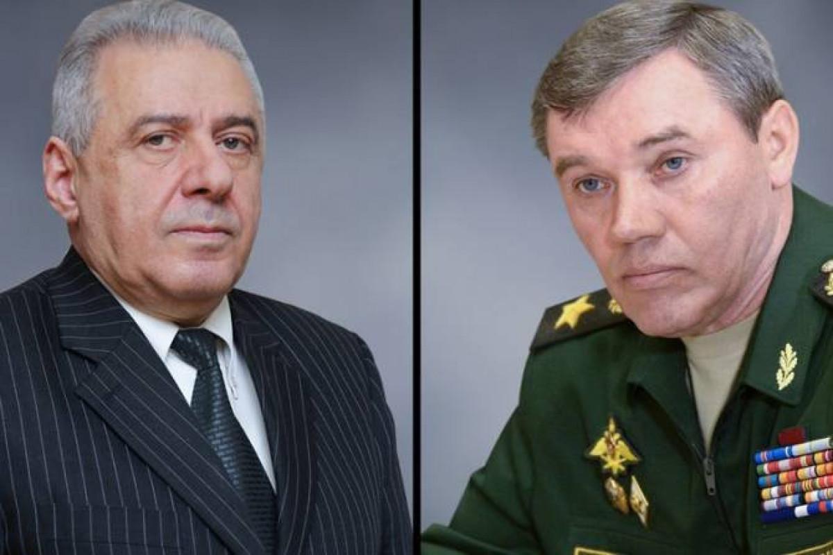 Состоялся телефонный разговор между министром обороны Армении и главой Генштаба ВС РФ