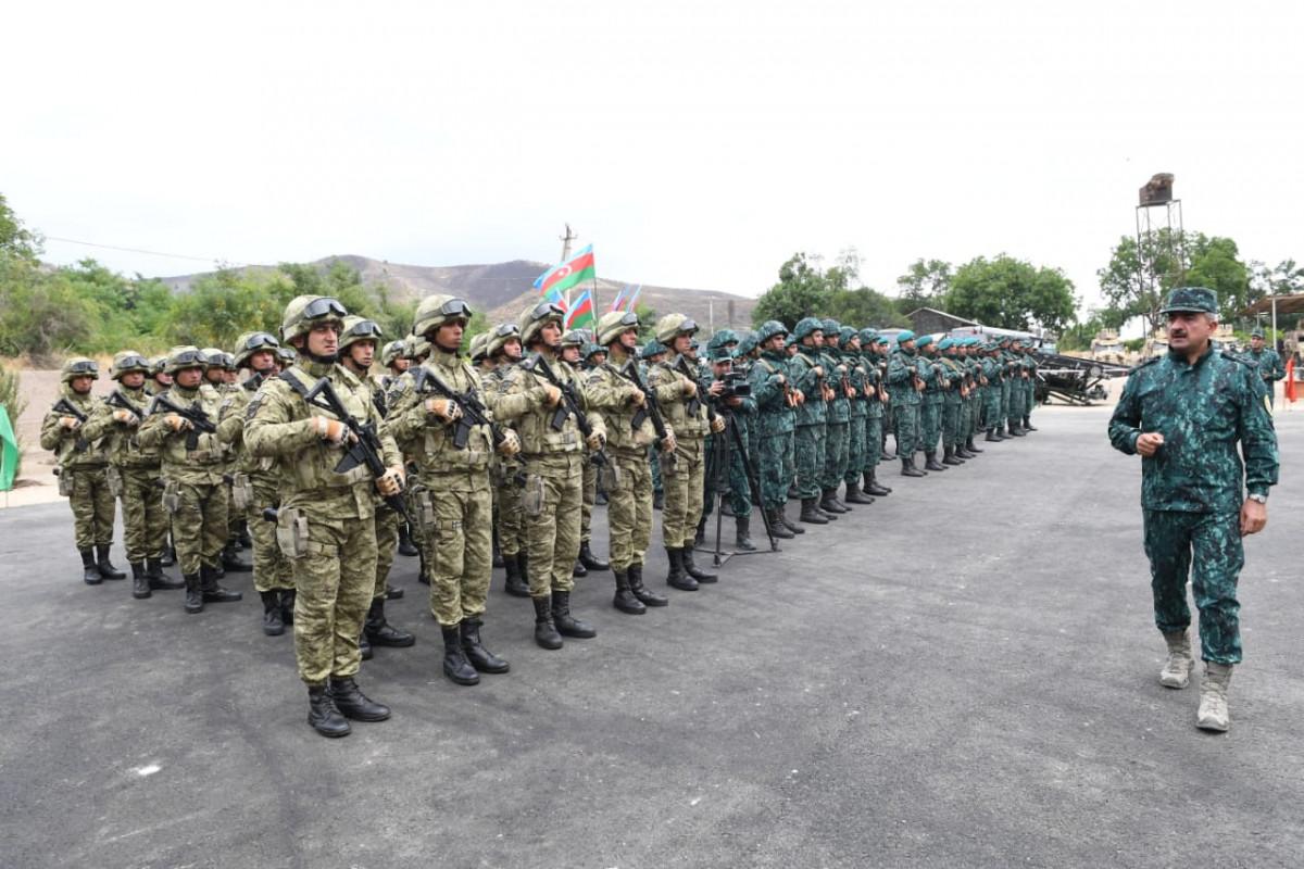 Qubadlı və Laçın ərazisində DSX-nin 2 yeni hərbi hissəsi istifadəyə verilib - FOTO