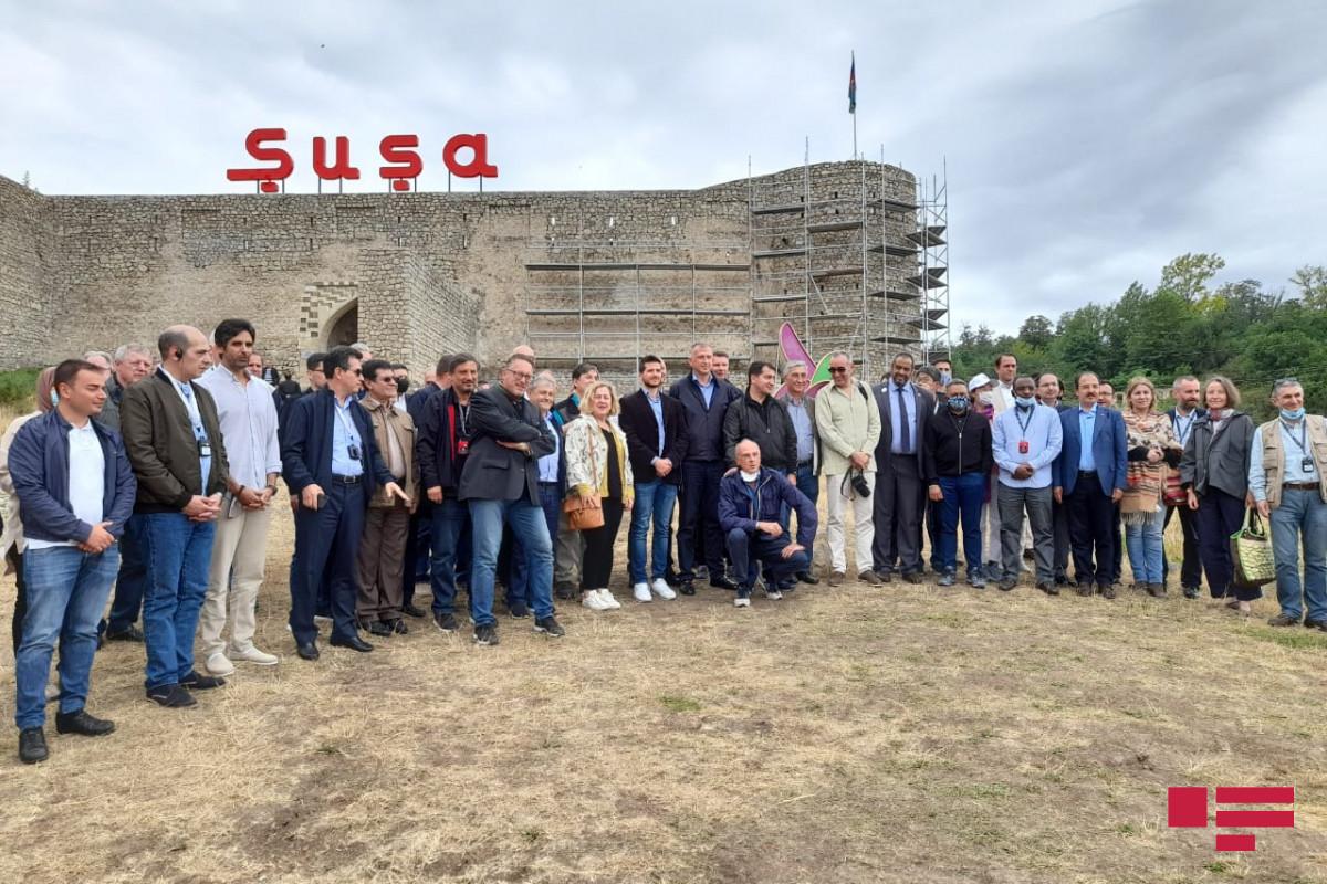 Representatives of diplomatic corps in Azerbaijan get acquainted with Shusha fortress-PHOTO