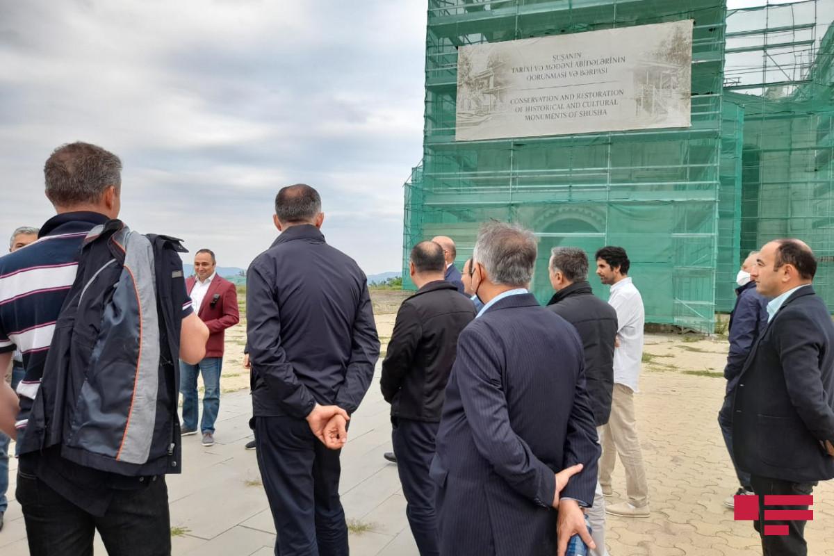 Foreign diplomats visit Gazanci church in Shusha