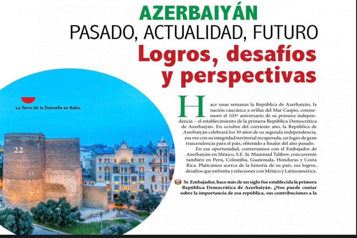 Meksikanın tanınmış jurnalı Azərbaycan haqda geniş material dərc edib