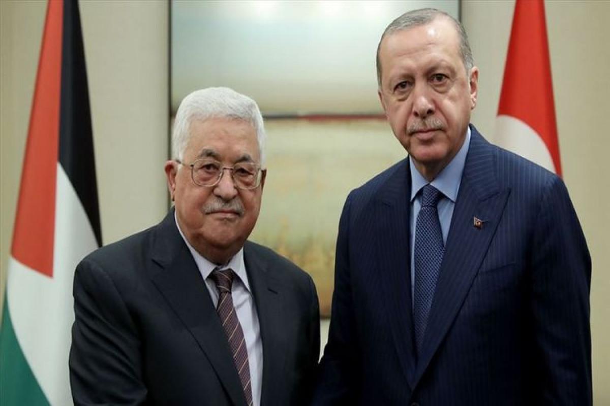 Ərdoğanla Fələstin lideri Mahmud Abbasın görüşü keçirilir