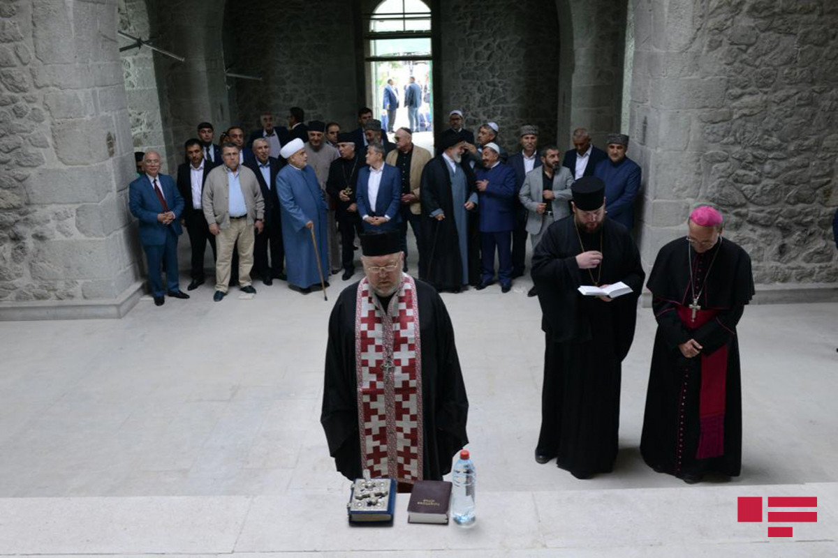 Leaders of Christian religious communities in Azerbaijan attend joint prayer ceremony at Russian Orthodox Church in Shusha