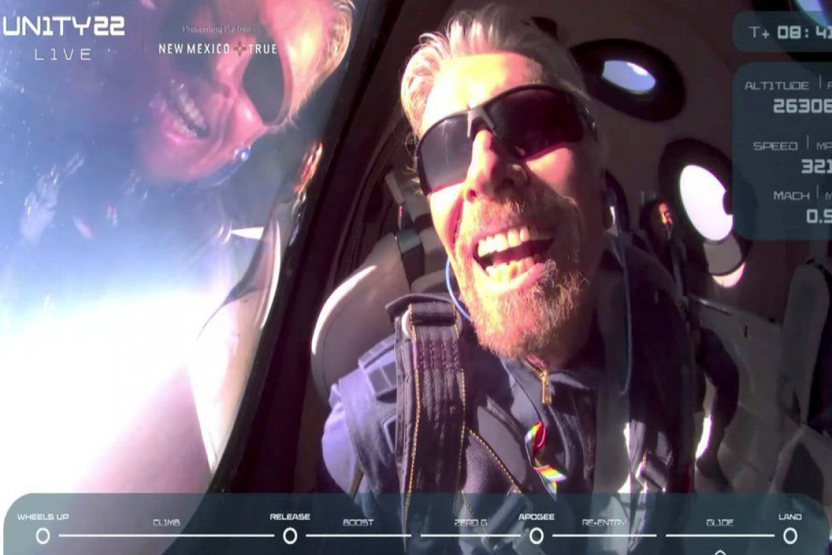 Billionaire Branson rockets to the edge of space