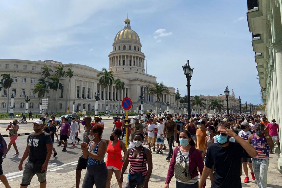 Thousands of protesters take to the streets in Cuba