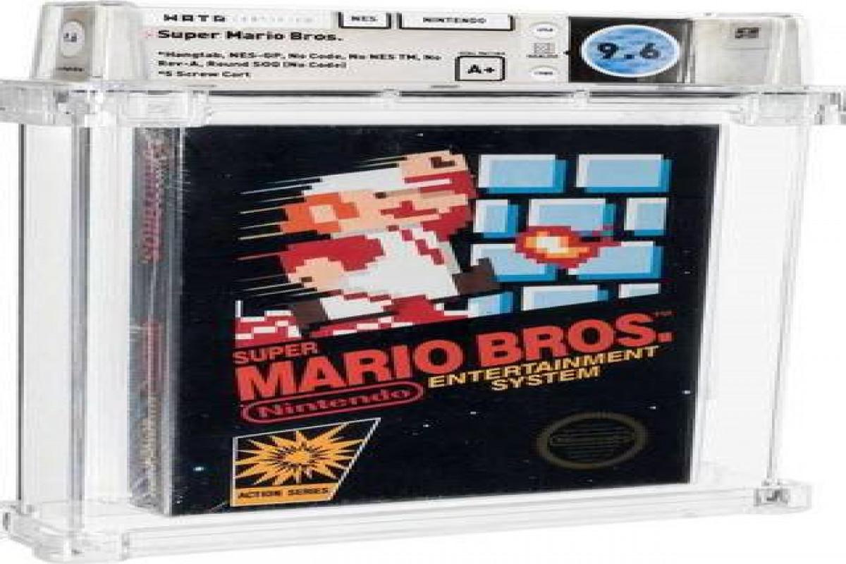 Картридж с игрой Super Mario ушел с молотка за 1,56 миллиона долларов
